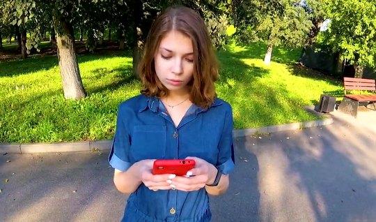 Русская девушка после пикапа согласилась на секс от первого лица...