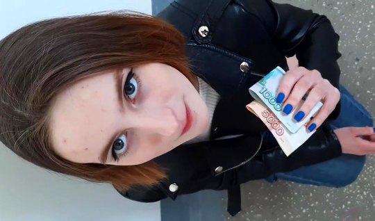 Русский пикапер уломал девушку дать за щеку и в писечку без презервати...