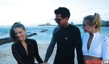 Групповушка на вилле с двумя моделями приносит райское наслаждение бизнесмену